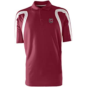 Antigua Mens South Carolina Gamecocks Point Desert Dry Xtra-Lite Moisture Manag by Antigua
