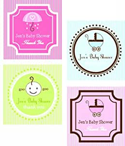 square baby shower labels tags baby shower gifts