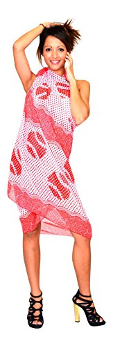 Red Sunrose Chiffon Red Sarong (Multicolor)