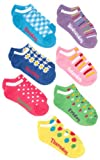 Jacques Moret Girls 7-16 Multi Colored Girls 7 Pack Days Of The Week No Show Socks
