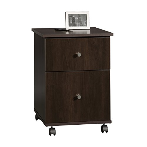 Sauder File Cart, Cinnamon Cherry Finish