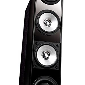 KEF Five-Two Model 11 Home Theater Floor Standing Speakers (Pair, Gloss Black) (Discontinued by Manufacturer)
