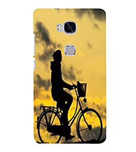 PRINTSHOPPII ALONE Back Case Cover for Huawei Honor 5X