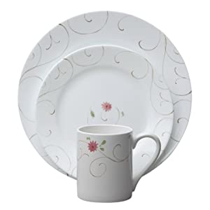 Corelle 16-Piece Impressions Enchanted Dinnerware Set