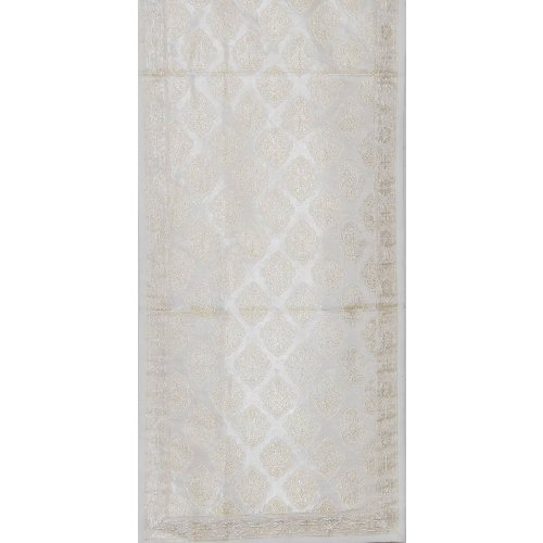 Home Decorating Table Runner in Brocade Silk From India 45 X 13 Inches