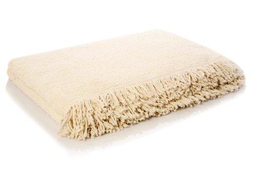 Belledorm Candlewick Bedspread, Cream, King Size