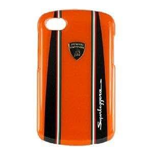 Lamborghini Cell Phone Case with Racing Stripes for Blackberry Q10, Orange