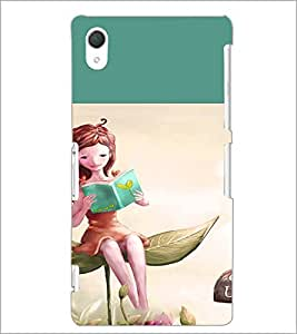 PrintDhaba Reading Girl D-2657 Back Case Cover for SONY XPERIA Z2 (Multi-Coloured)