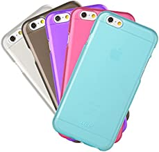 [Apple New iPhone 6 (4.7) Case] iXCC ® Pilot Series 5-color Value Combo Pack [Multiple Color, Multipack] [High Quality] [Classy Fashion] [Ultra Slim Thin Fit] [Soft Rubberized Jelly] [Matte Finish] Sturdy TPU Gel Phone Case Cover with Anti-Fall, Anti-Scratch, Anti-Slip and Anti-Shock Protection Rubber Back Plate and Bumper for iPhone 6 (4.7-inch)