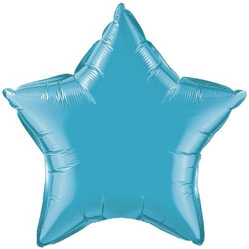 "Single Source Party Supplies - Star 20"" Turquoise Mylar Foil Balloon by Single Source Party Supplies"