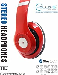Hello-G Wireless Headphone with call receiver +Wireless FM + Mp3 Player (COLOUR MAY VERY) for MOTOROLA MOTO G DUAL SIM (2ND GEN)