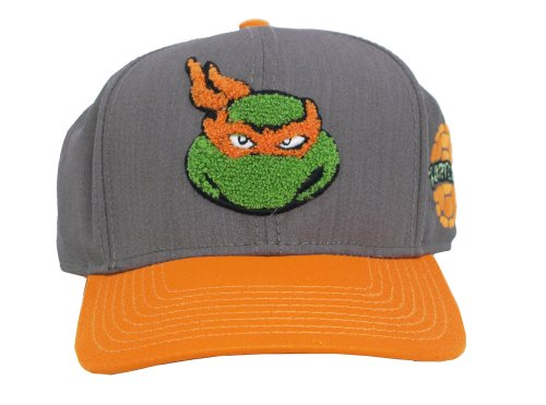 Michelangelo Teenage Mutant Ninja Turtles Patch Adult Snapback Baseball Cap Hat