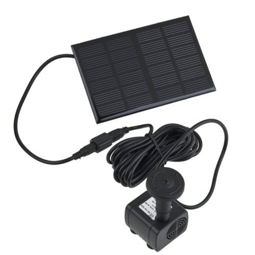 Generic 7V 140mA Mini Solar Panel Power Fountain Pool Water Pump for Garden Color Black
