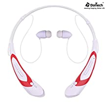 buy Bluetooth Headphones, Doltech Bluetooth Headsets, Wireless Hand-Free Neckband Earbuds For Sport/Running/Gym/Exercise Lightweight Sweat-Proof Noise Cancelling Earbud For Cell Phones (760 White+Red)