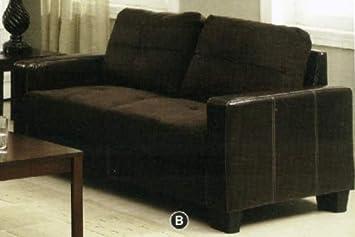 Elephant Skin Microfiber /Leatherette Love Seat