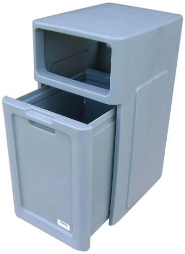 Forte products 8001742 enclosed top waste can with pull for Best out of waste products