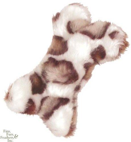 KONG Material Dog – Dr. Noys' Dog Toy, Bone, Small, White/Tran