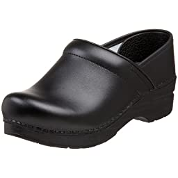 Dansko Women\'s Wide Professional Clog,Black Box,40 W EU / 9.5-10 D(W) US