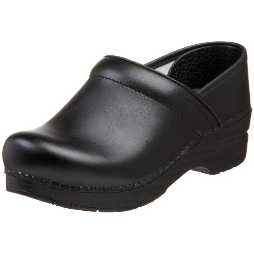 Dansko Women'S Wide Professional Clog,Black Box,38 W Eu / 7.5-8 D(W) Us front-672413