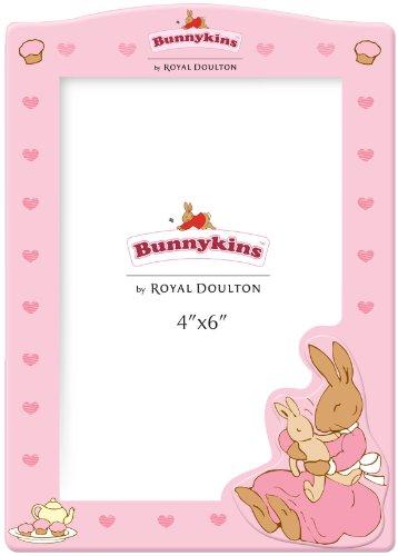 """Great Gizmos - Cornice per foto in legno, motivo """"Bunnykins"""", dimensioni 10,16 x 15,24 cm, colore: Rosa"""