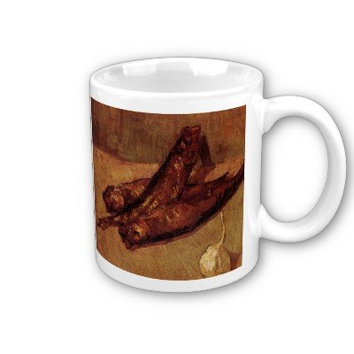 Still Life With Bloaters And Garlic By Vincent Van Gogh Coffee Cup