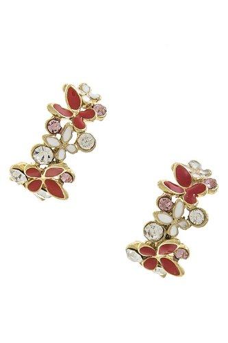 The Jewel Rack Half Flower Linked Earrings front-584893