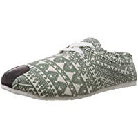 Salvezza Women's Sheryl Green Canvas Sneakers - 3 UK (996-1)