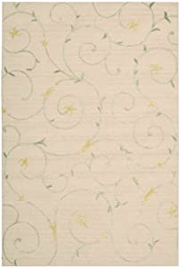 Nourison Sorrento Scrolls Beige 8.0-Feet by 10.0-Feet Polyester/Wool Blend Area Rug