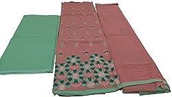 Alankar textiles Brown Cotton Dress Material