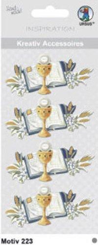 """URSUS® Inspiration Kreativ Accessoires, 3D-Sticker Motiv 223, """"Bibel und Kelch"""""""