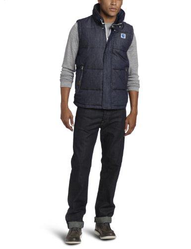 G-Star Men's S.O. Park Puffer Vest - 82150 Trenchcoat Blue (Raw 1) 54