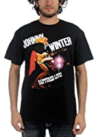 Winter, Johnny - Mens Captured Live T-Shirt