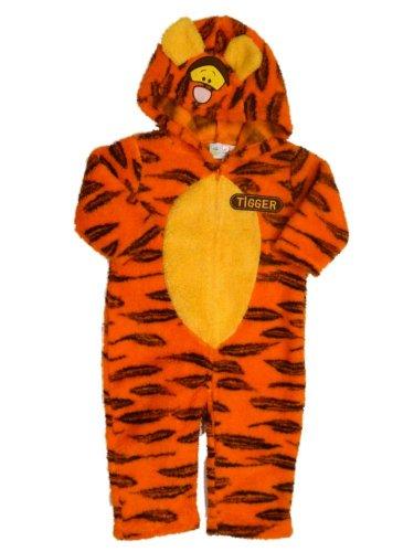 Disney Infant Boys & Girls Plush Orange Sherpa Tigger Costume Tiger Jumper front-166625