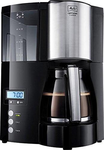 100801 Optima Timer Kaffeefiltermaschine - schwarz/Edelstahl