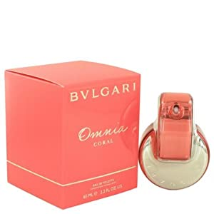 Bvlgari Omnia Coral Eau de Toilette Spray for Women, 2.2 Fluid Ounce