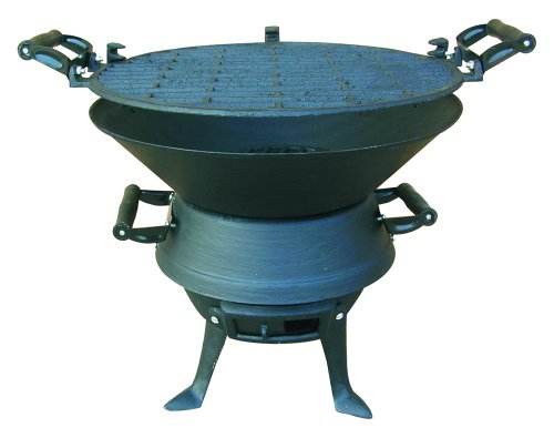 BBQ Metal with Cast Iron Cooking Surface