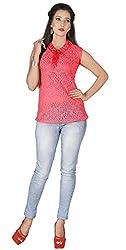 Khoobee Presents Net,Lycra Stretchable Top(Gajari)