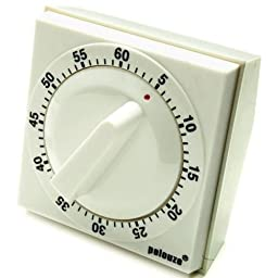 Pelouze Commercial 60 Minutes Mechanical Timer, 2 3/4 x 2 3/4 x 2 inch -- 1 each.