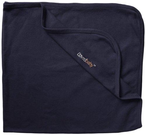 L'ovedbaby Unisex-Baby Newborn Organic Swaddling Blanket, Navy, one size