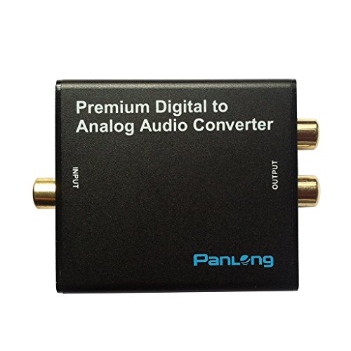 Panlong Premium 24-Bit 192Khz Dac Optical Spdif Toslink / Coaxial Digital To Analog Rca L/R Audio Converter Adapter With 3.5Mm Headphone Jack For Hdtv, Set-Top Box, Ps3/4, Xbox, Blu-Ray/Dvd Player