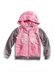 GUESS Kids Girls Little Girl Active Hoodie (2-6x), PINK (5/6)