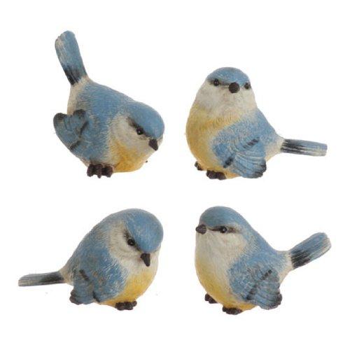 RAZ Imports – Set of Four 2.5″ Blue Birds