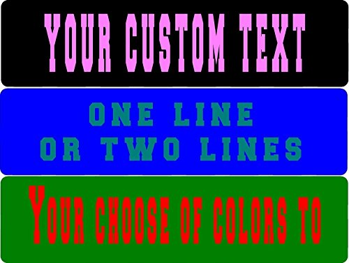 "Custom Personalized metal Aluminum street sign man cave garage signage 6"" x 24"""