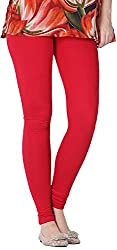 Tulip Collections Women's Cotton Slim Leggings (Tcinli0000078_L, Red, L)