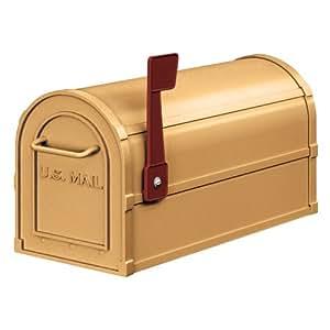 Salsbury Industries 4850A-BRS Antique Rural Mailbox, Brass