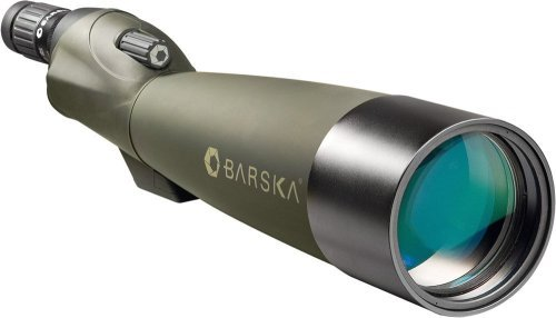 BARSKA Blackhawk 22-67x100 Straight Spotting Scope with Tripod and Premium Hard Case (Green Lens)