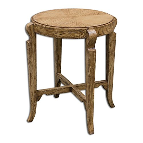"Mini 27"" Distressed Wood Accent Table"