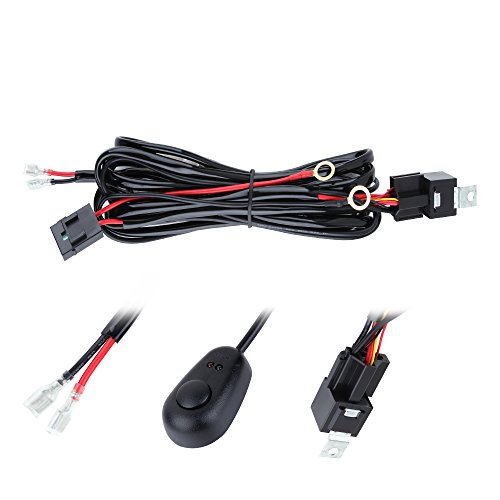ANNT Waterproof 3M 10ft 12V 40A Off Road LED Offroad LED Light Bar Wiring Kits Wiring Harness for High Watt LED Bar, with 40 Amp Power Relay Fuse On-Off Toggle Switch (Led Off Road Wire Harness compare prices)