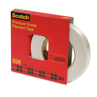 Scotch 898 Filament Tape, 18 mm Width, 55 m Length, Clear (Pack of 1)