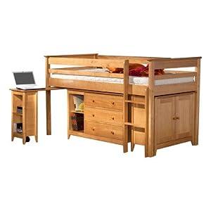 Lansell Storage Single Mid Sleeper Bunk Bed Finish: Pine